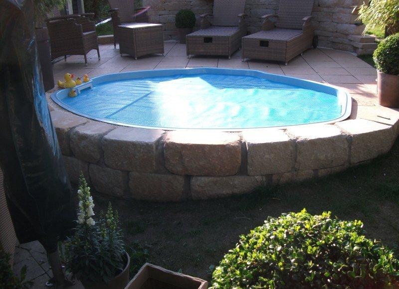 gfk schwimmbecken 285x230x85 mit grund zubeh r inkl transport ebay. Black Bedroom Furniture Sets. Home Design Ideas