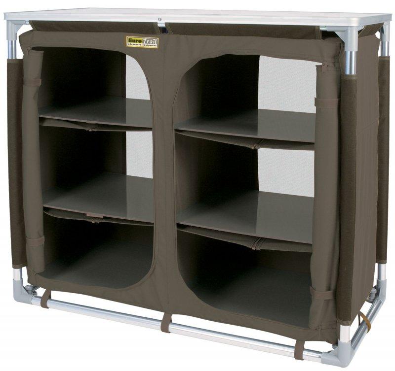 Camping kuchenschrank vorratsschrankgrau schwarz 98x47 for Outdoor küchenschrank