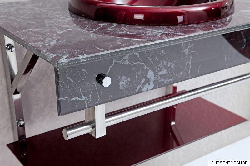 waschtisch glasablage glas waschbecken wt3041 rot marmor design spiegel bad wc ebay. Black Bedroom Furniture Sets. Home Design Ideas