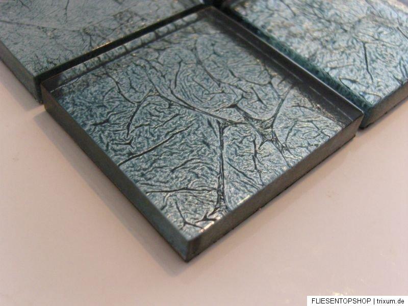 1 qm glasmosaik mosaik klarglas metall fx1 fliesen gr nstich silber effekt ebay. Black Bedroom Furniture Sets. Home Design Ideas