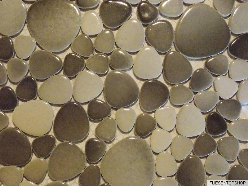 fliesen kieselstein optik im bad bad mosaik fliesen dune. Black Bedroom Furniture Sets. Home Design Ideas