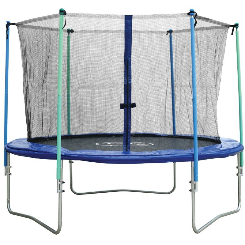 body coach trampolin 244 cm mit sicherheitsnetz komplettset gartentrampolin ebay. Black Bedroom Furniture Sets. Home Design Ideas
