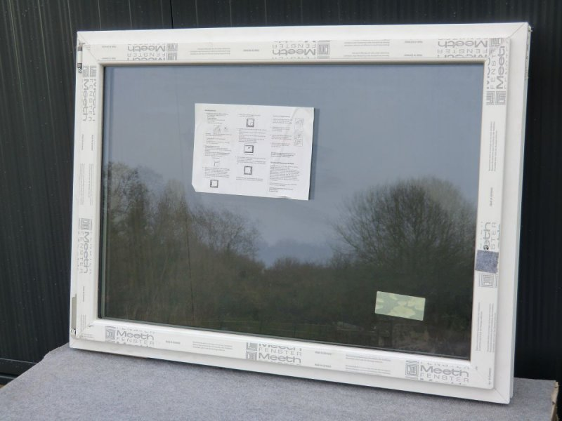 meeth kunststoff fenster wei 1 flgl dreh kipp 1100 x 800 mm din links ebay. Black Bedroom Furniture Sets. Home Design Ideas
