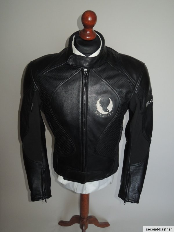 belstaff herren motorrad jacke lederjacke motorradjacke gr 52 l bikerjacke ebay. Black Bedroom Furniture Sets. Home Design Ideas