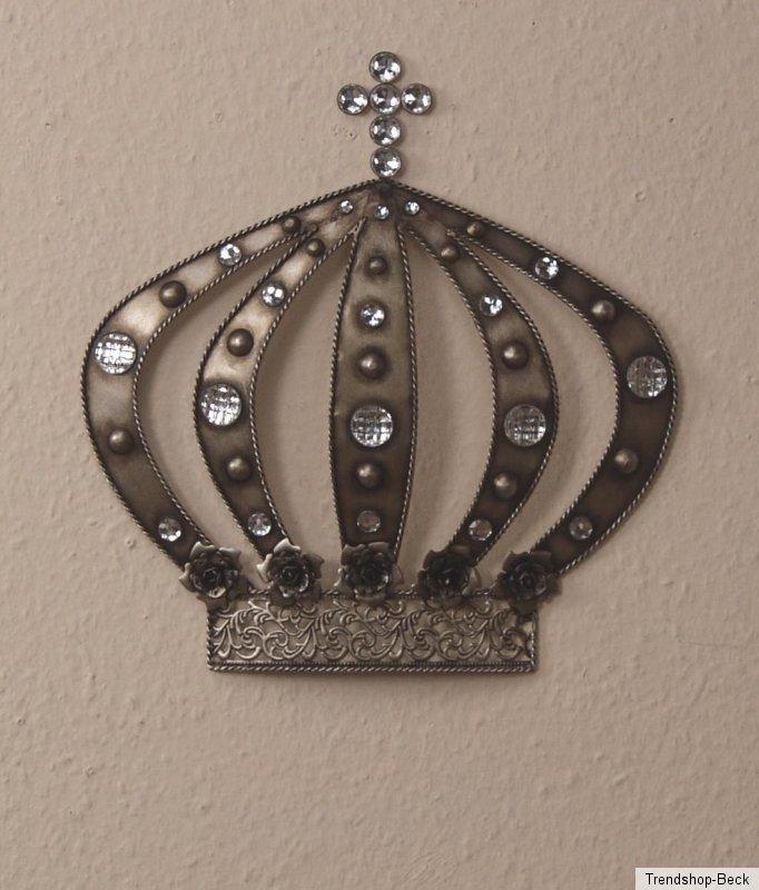 wanddeko krone wandschmuck deko wandobjekt wandbild dekoration ebay. Black Bedroom Furniture Sets. Home Design Ideas