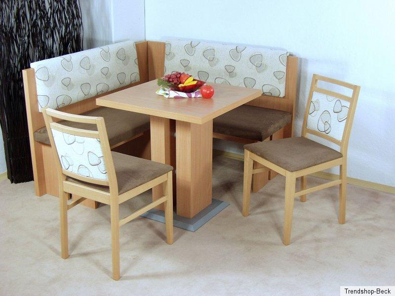 eckbankgruppe 4 tlg eckbank essgruppe st hle stuhl tisch esstisch sitzgruppe ebay. Black Bedroom Furniture Sets. Home Design Ideas