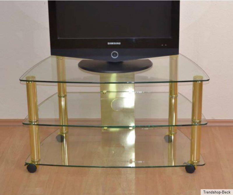 tv phonowagen hifi rack mit rollen chrom messing regal. Black Bedroom Furniture Sets. Home Design Ideas