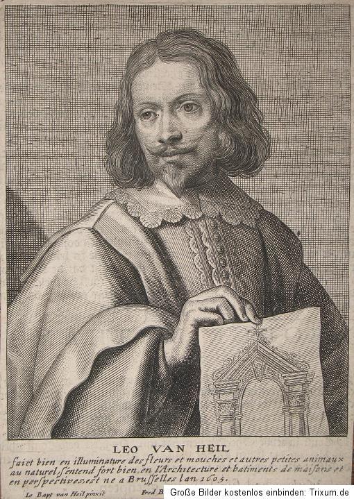 1661 heil leo van maler kupferstich portr t de bie ebay. Black Bedroom Furniture Sets. Home Design Ideas