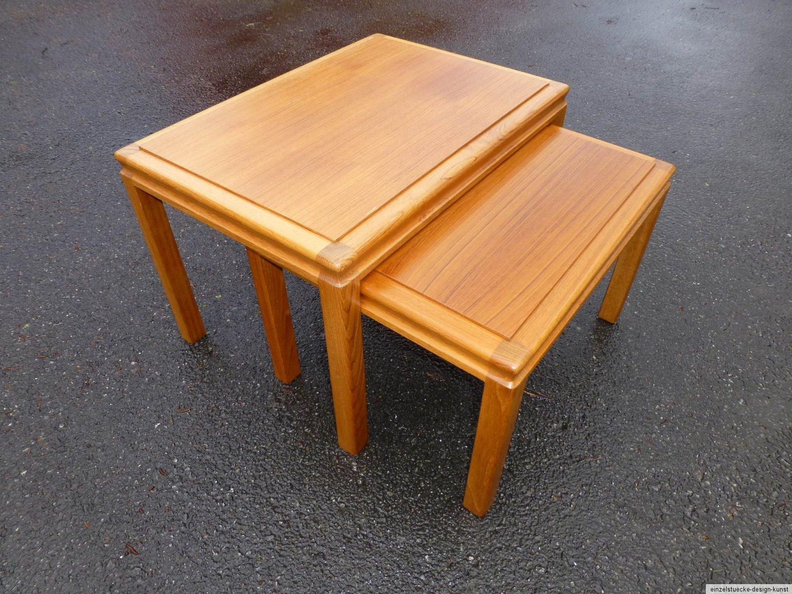 Teak tisch beistelltisch aus teakholz made in denmark for Tisch nordic design