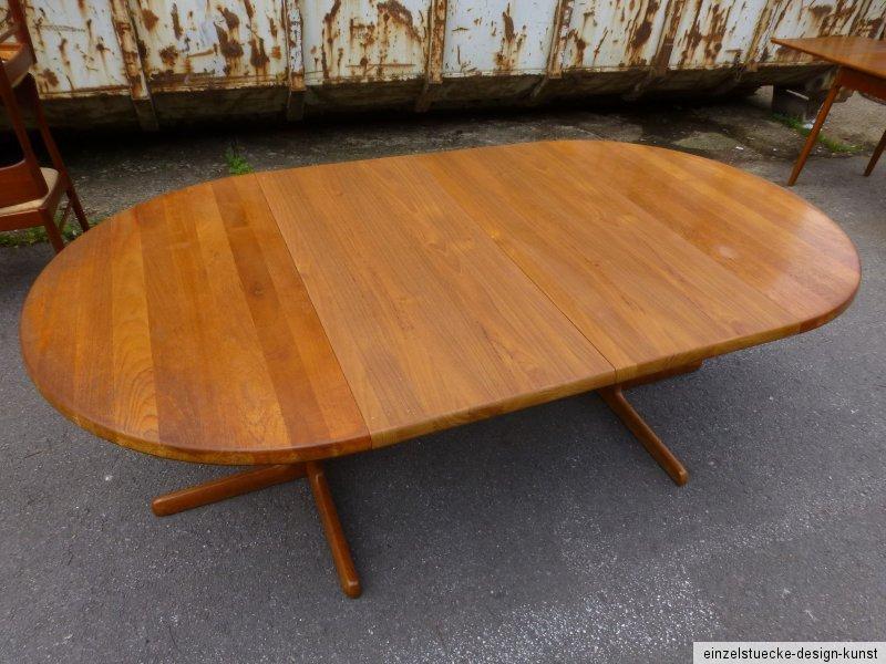 Tisch aus massiv teak made in denmark 70er jahre rund for Tisch rund danish design