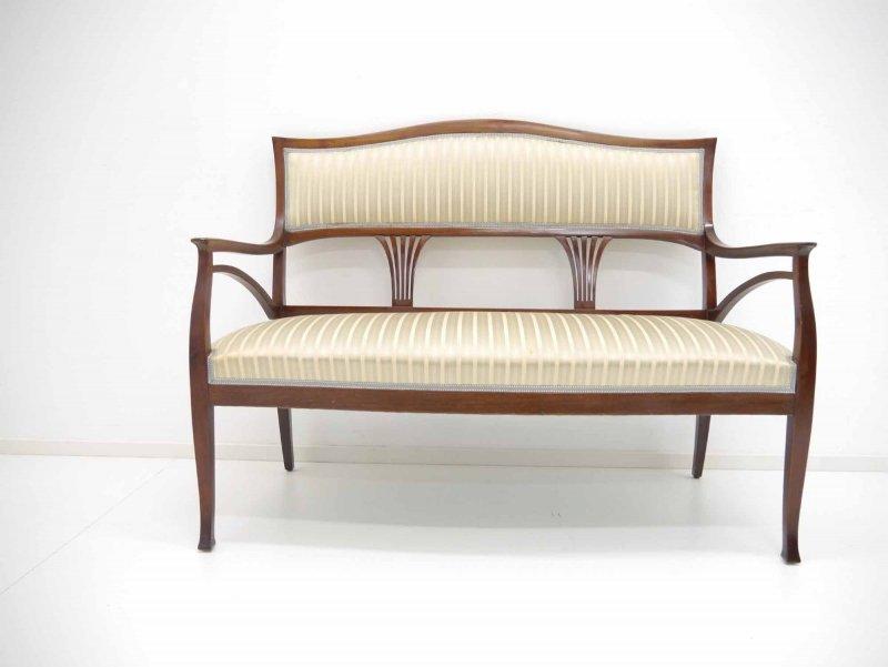 Jugendstil Sofa Bank Massiv Mahagoni Um 1900 Ebay