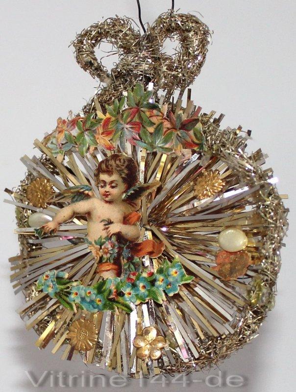 christbaumschmuck um 1900 ornament mit engel bl ten oblaten dresdner sterne ebay. Black Bedroom Furniture Sets. Home Design Ideas