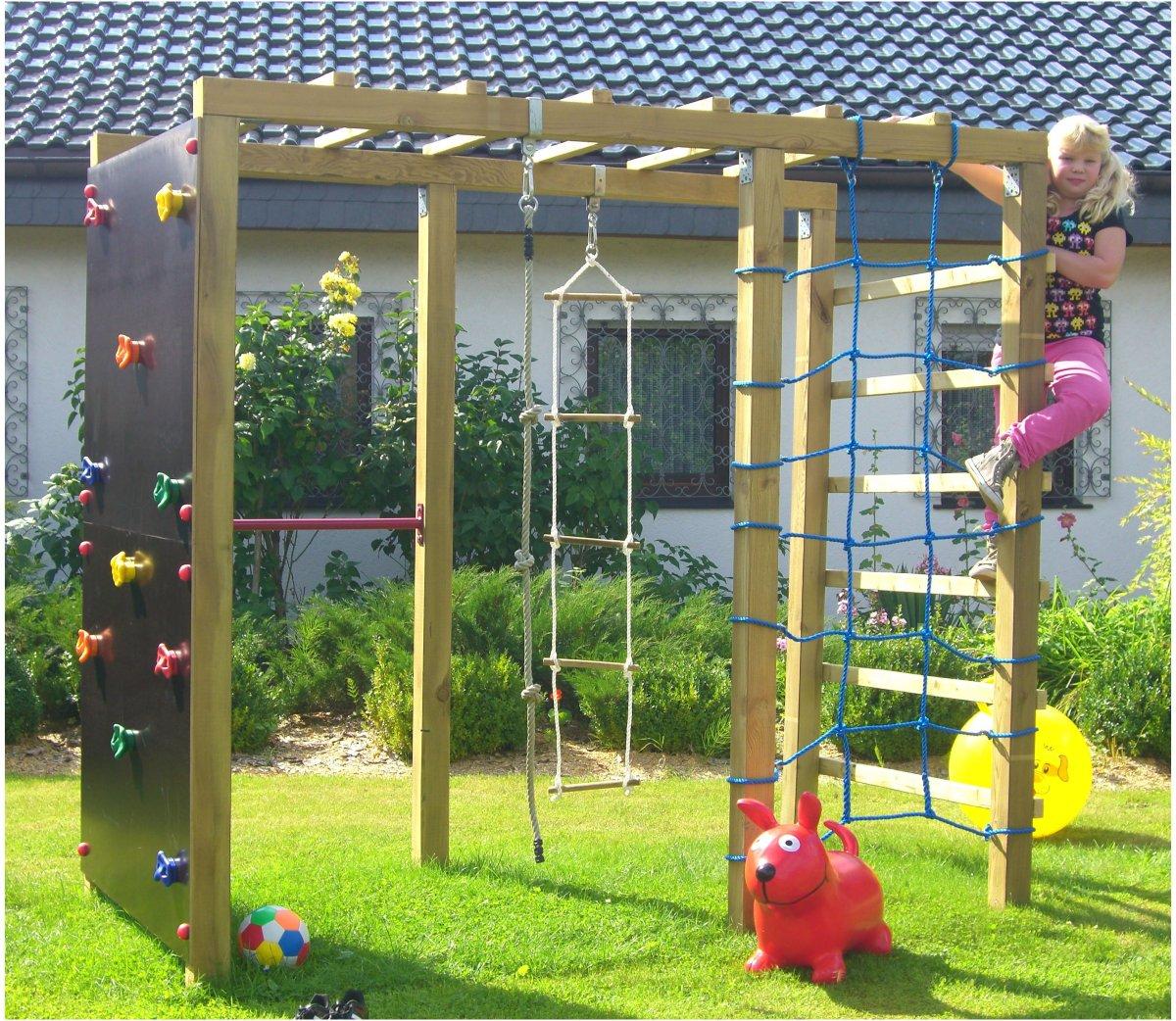 xxl kletterger st 2 4m kletterturm spielturm mit kletternetz reckstange leiter kaufen bei. Black Bedroom Furniture Sets. Home Design Ideas