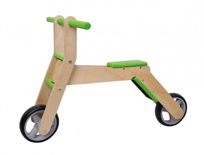 2in1 laufrad roller aus holz scooter bike f r kinder ab. Black Bedroom Furniture Sets. Home Design Ideas