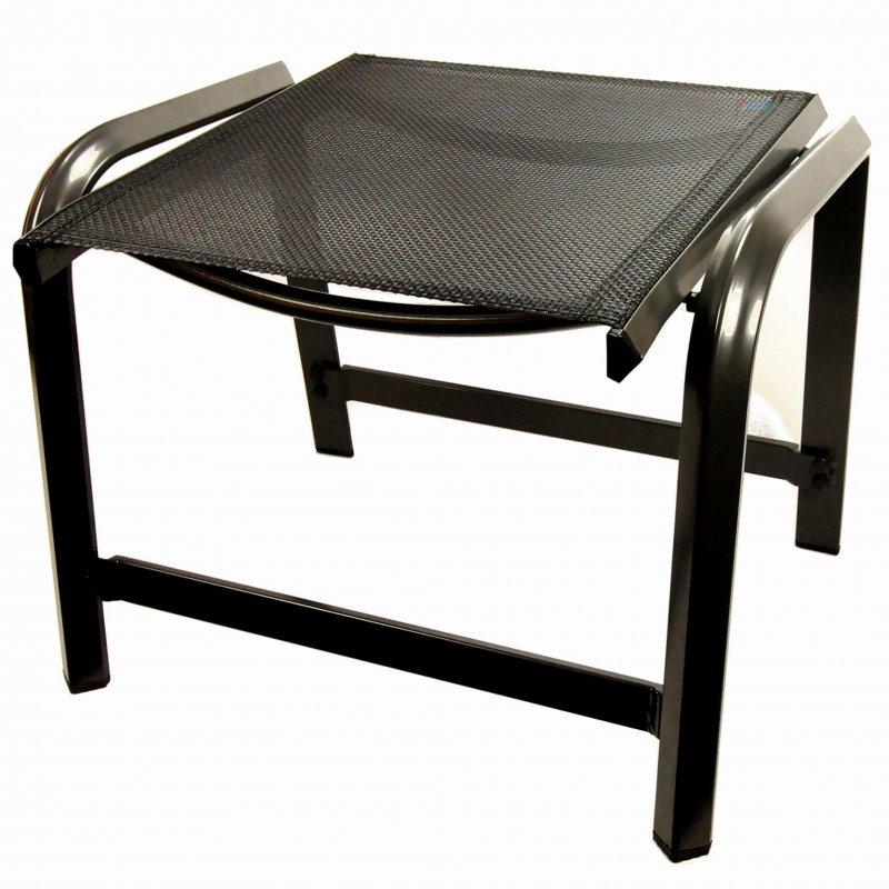 hocker aluminium schwarz gartenstuhl fu hocker mit meshgewebe stapelhocker. Black Bedroom Furniture Sets. Home Design Ideas