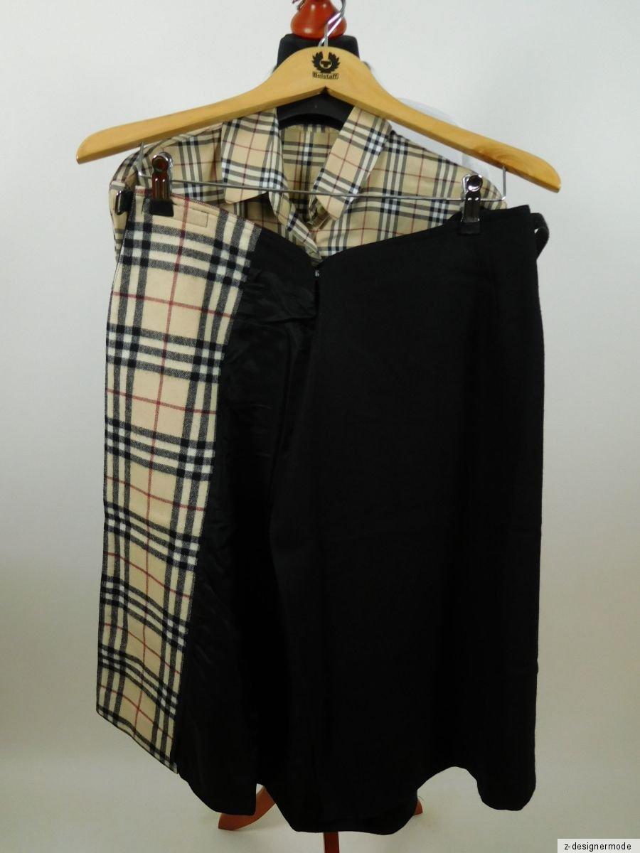 burberry damen anzug bluse und rock kost m baumwolle. Black Bedroom Furniture Sets. Home Design Ideas