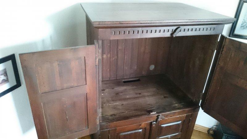 tv schrank fernsehschrank akazie kolonialstil massiv ebay. Black Bedroom Furniture Sets. Home Design Ideas