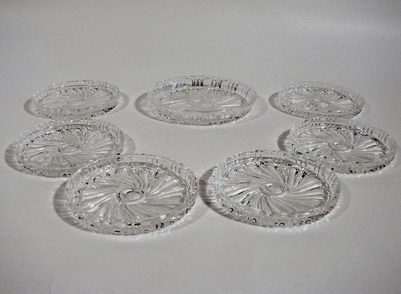 nachtmann bleikristall 1 6 weinuntersetzer glasuntersetzer glas vintage ebay. Black Bedroom Furniture Sets. Home Design Ideas