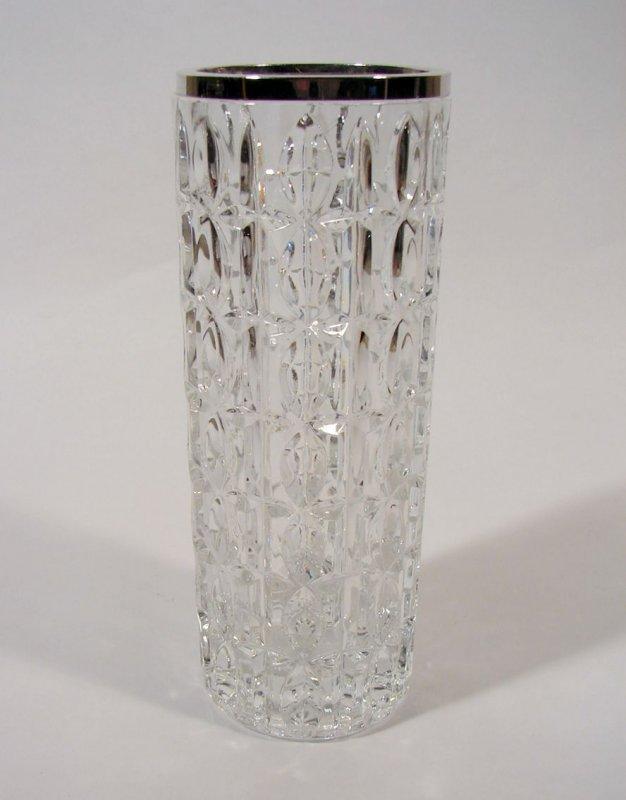 glas vase blumenvase 800 silber montur emil hermann ebay. Black Bedroom Furniture Sets. Home Design Ideas