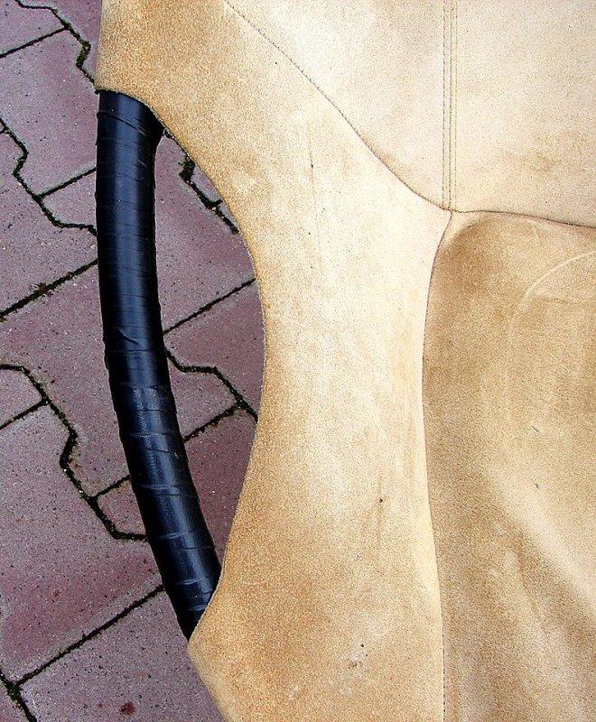 Modernistischer sessel balloon chair leder wildleder lusch for Sessel wildleder
