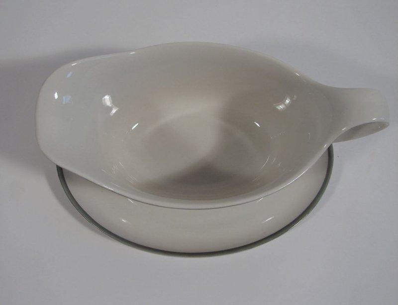 arzberg porzellan sauciere form 1382 grau bauhaus hermann gretsch 1930. Black Bedroom Furniture Sets. Home Design Ideas