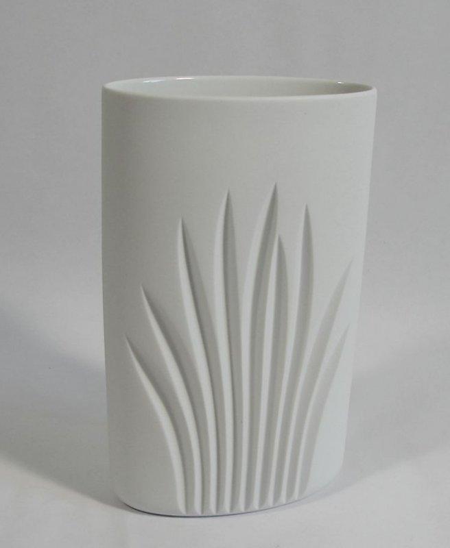 rosenthal vase biskuit porzellan weiss 70er design ebay. Black Bedroom Furniture Sets. Home Design Ideas