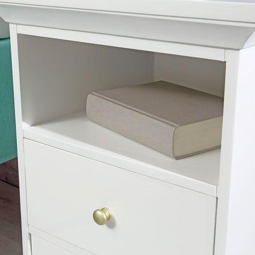 nachtisch beistelltisch nachtschrank kommode 44x59x40 cm. Black Bedroom Furniture Sets. Home Design Ideas
