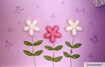 ikea smila blomma blume rosa pink wei weiss wandlampe wandleuchte lampe bl te. Black Bedroom Furniture Sets. Home Design Ideas