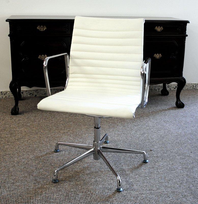 konferenzstuhl besucherstuhl chef b rostuhl sessel leder farbe weiss. Black Bedroom Furniture Sets. Home Design Ideas