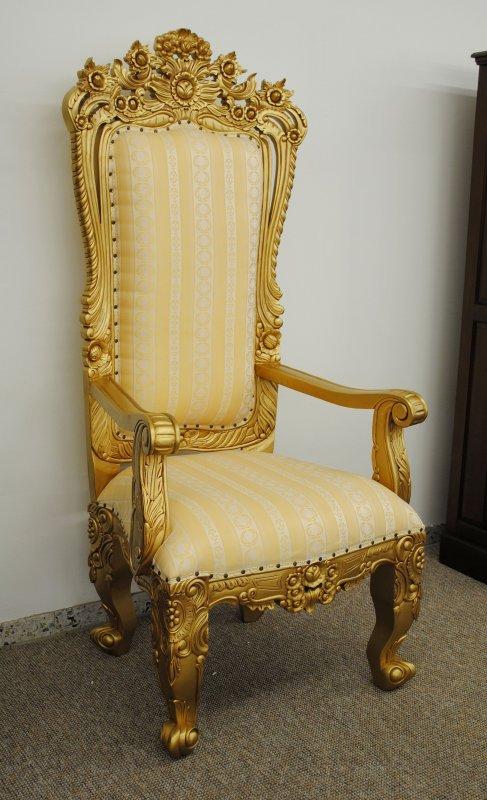 dekorativer barocksessel sessel mahagoni gold ebay. Black Bedroom Furniture Sets. Home Design Ideas