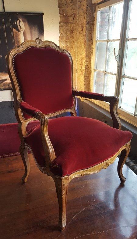 Antik sessel barock chippendale dunkelrot samt thronstuhl for Sessel dunkelrot