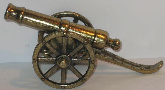 Kanone aus metall cm messingfarben deko x