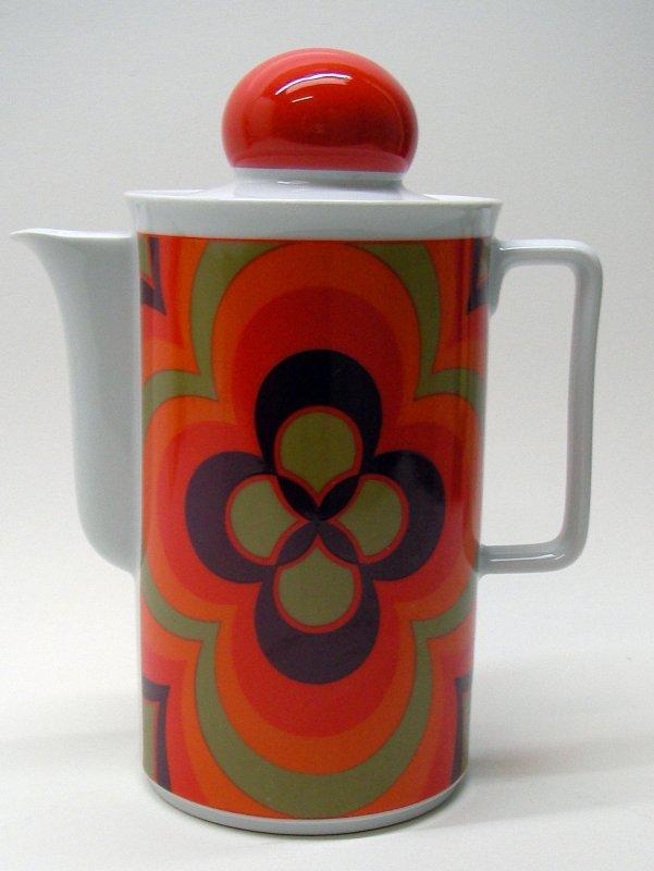 kaffeekanne schirnding bavaria porzellan 70er kanne retro kult vintage sammler ebay. Black Bedroom Furniture Sets. Home Design Ideas