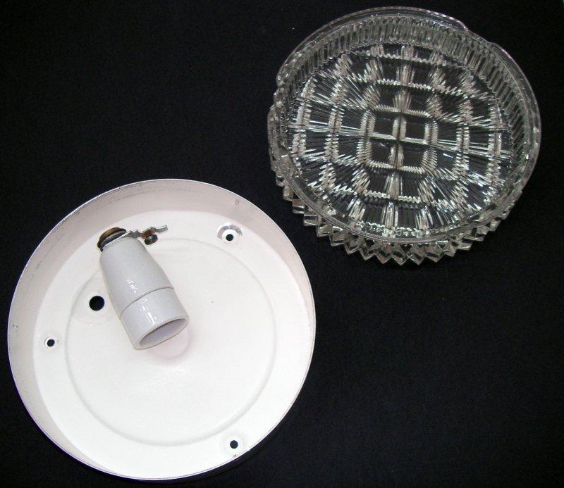 wandlampe deckenlampe leuchte glas muster bleiglas lampe 60er beleuchtung ebay. Black Bedroom Furniture Sets. Home Design Ideas