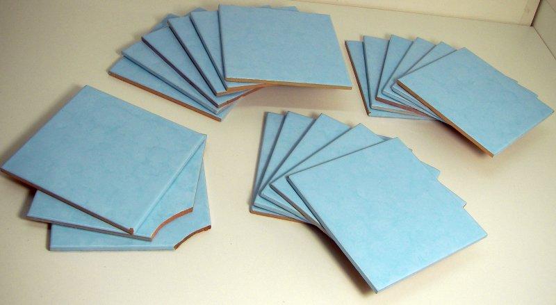 Alcor alcora fliesen blau 20 st ck hellblau alt retro kult for Fliesen blau