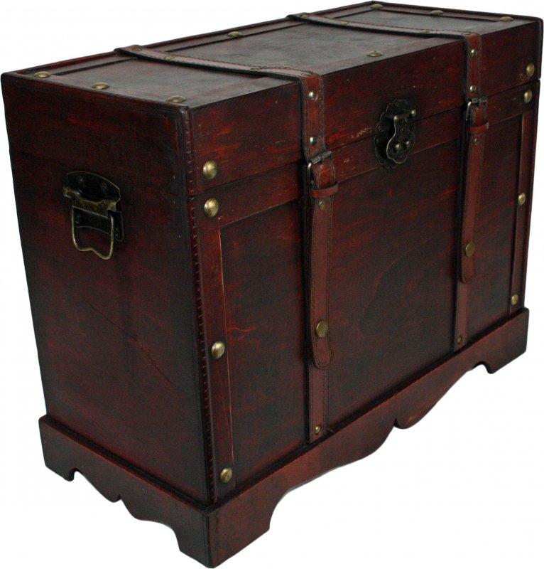 schatztruhe gro holztruhe legno truhe aus holz schatzkiste 48x22x36 cm ebay. Black Bedroom Furniture Sets. Home Design Ideas