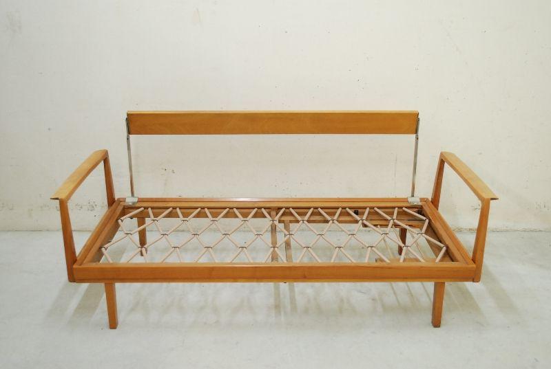 Knoll antimott daybed 60er sofa walnut wood schurwolle ebay for Sofa 60er gebraucht