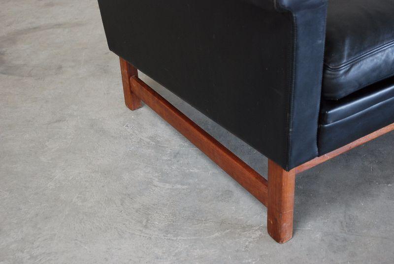 Danish modern 2 sitzer ledersofa sofa 60er vintage ebay for Sofa 60er gebraucht