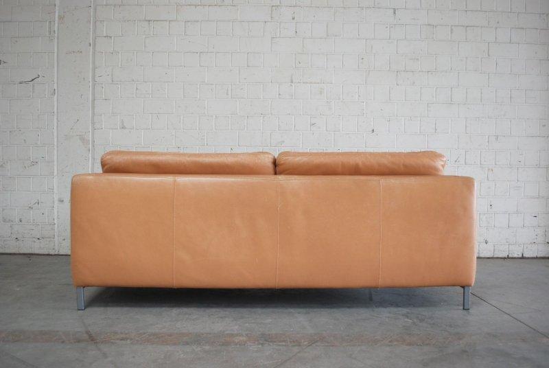 machalke ledersofa vintage sofa modell pablo leder saddle cognac. Black Bedroom Furniture Sets. Home Design Ideas
