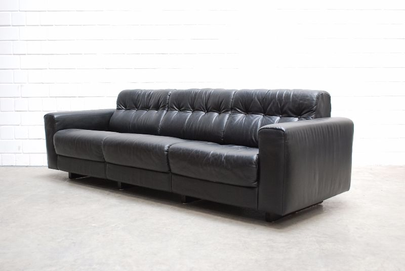 de sede ds 40 vintage ensemble 3er 2er ledersofa black sofa. Black Bedroom Furniture Sets. Home Design Ideas