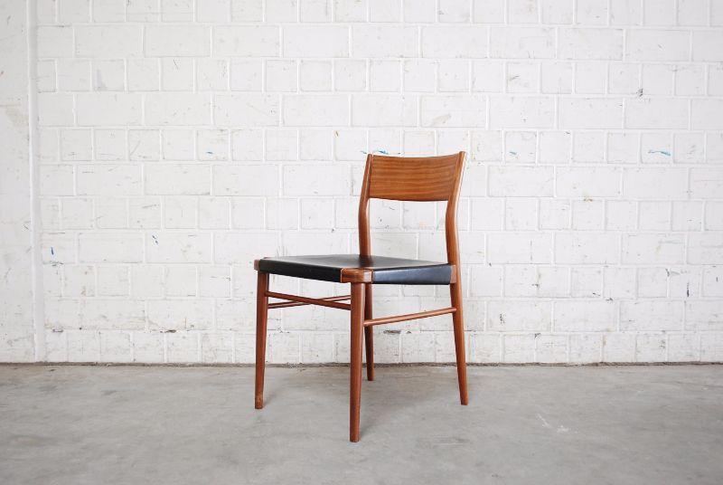 Wilkhahn georg leowald danish modern black 4 st hle stuhl for Stuhl abc design