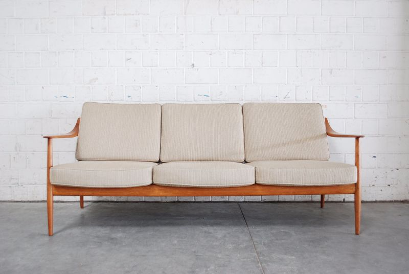 Fine knoll antimott sofa 60er danish ra teak wood ebay for Sofa 60er gebraucht