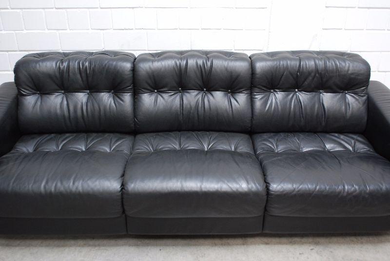 de sede ds 40 vintage ensemble 3er 2er ledersofa black sofa. Black Bedroom Furniture Sets. Home Design Ideas