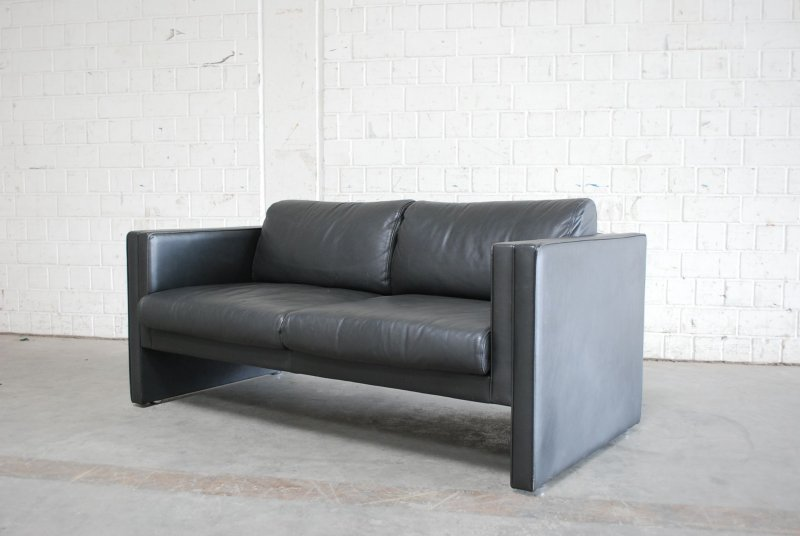 walter knoll ledersofa sofa modell studio design classic grau ebay. Black Bedroom Furniture Sets. Home Design Ideas