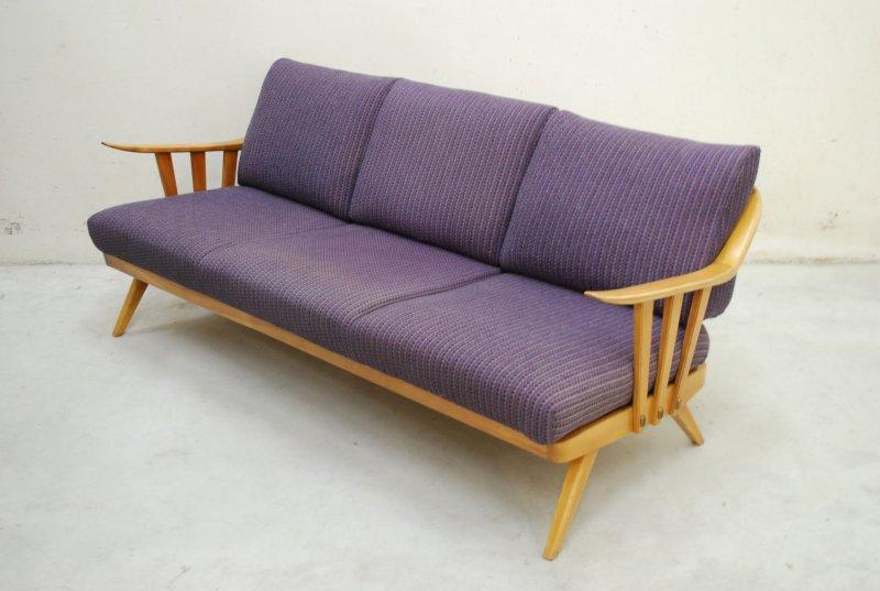 Fine knoll antimott violett sofa daybed 60er danish cherry for Sofa 60er gebraucht