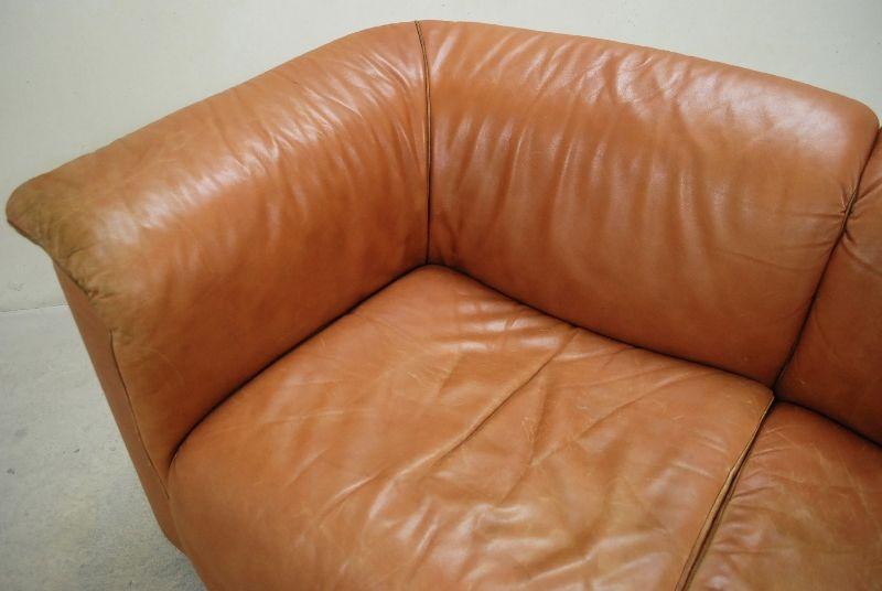 wittmann modell hochbarett vintage cognac club ledersofa clubsessel sofa sessel ebay. Black Bedroom Furniture Sets. Home Design Ideas
