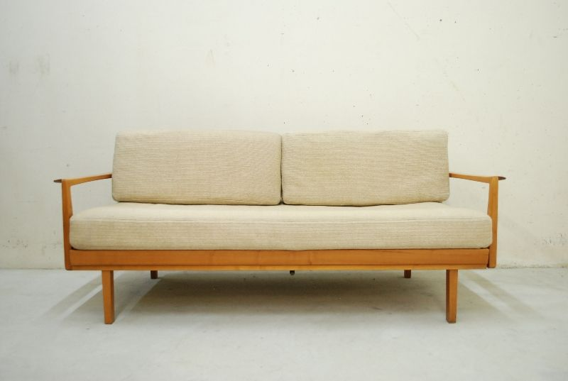 Knoll antimott daybed 60er sofa walnut wood schurwolle ebay for Sofa 60er gebraucht
