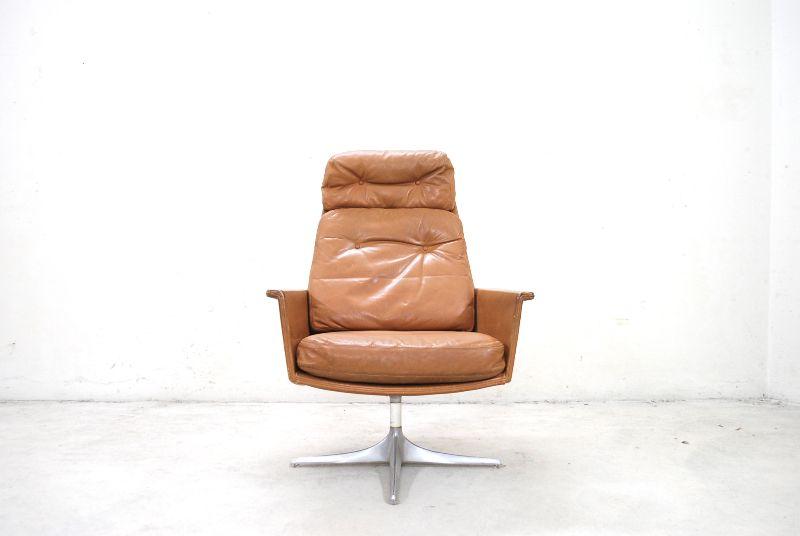 cor sedia vintage br ning ledersessel sessel lounge chair whiskey cognac ebay. Black Bedroom Furniture Sets. Home Design Ideas