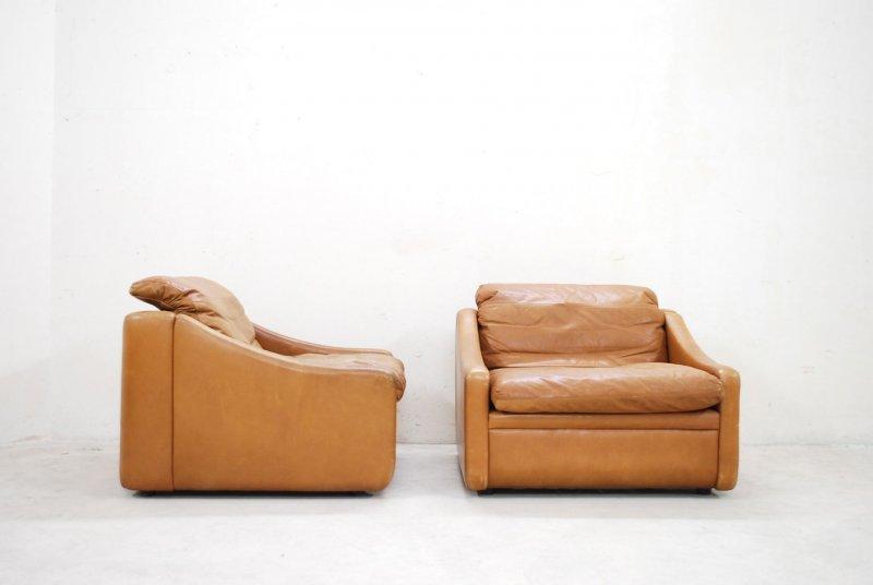 Rolf benz ledersessel cognac vintage easy lounge chair for Rolf benz ledersessel