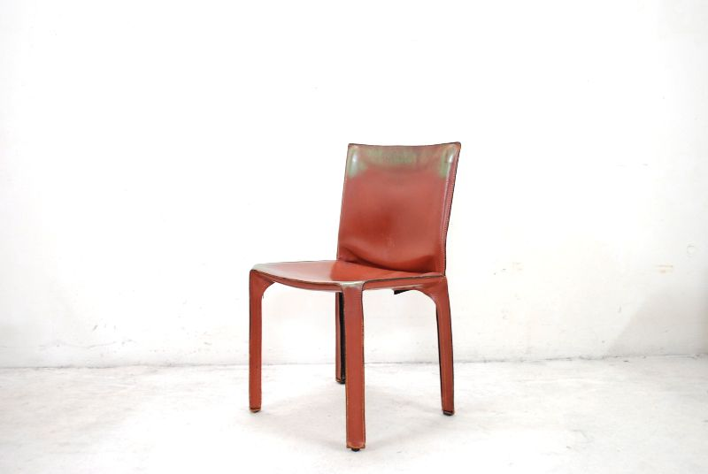 cassina cab 412 oxred mario bellini cab vintage used chair 6x st hle stuhl ebay. Black Bedroom Furniture Sets. Home Design Ideas